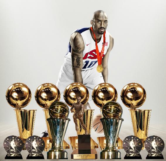 Kobe Bryant Trophies